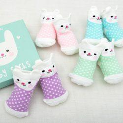 Skarpetki dla niemowląt 4 pary Króliczki