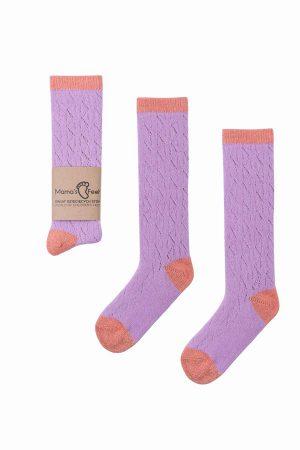 Mama`s Feet Skarpetki dla dziewczynki fioletowe rozmiar 1- 3