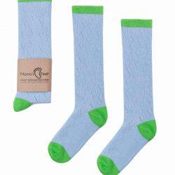 Mama's Feet Skarpetki dla dziewczynki niebieskie rozmiar 1- 3