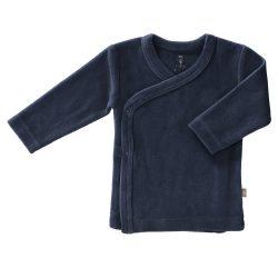 Fresk bluzeczka kardigan niemowlęcy welur indigo blue