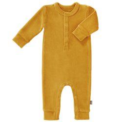 Fresk Rampers niemowlęcy welurowy Mimosa Yellow