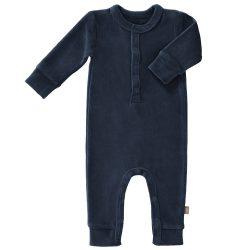 Fresk Rampers niemowlęcy welurowy Indigo Blue