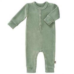 Fresk rampers niemowlęcy welurowy forest green