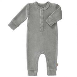 Fresk Rampers niemowlęcy welurowy Paloma grey