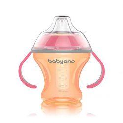 Babyono Kubek niekapek z miękkim ustnikiem dla niemowląt Natural Nursing 180 ml