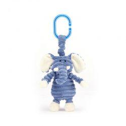 JellyCat Cordy Słonik – drgająca zabawka dla niemowląt 14 cm