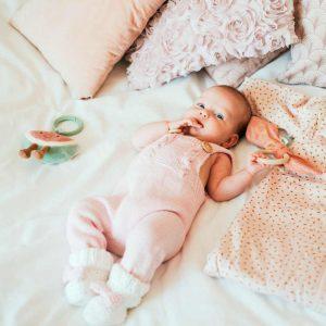 By Royal Baby Wełniany Eko Rampers dla dziewczynki cukierkowy róż