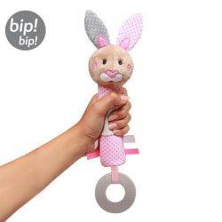 Babyono Piszczek z gryzakiem dla niemowląt Bunny Julia