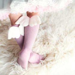 Podkolanówki dla dziewczynki różowy aniołek