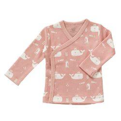 Fresk Bluzeczka Eko kardigan niemowlęcy Wieloryb Mellow Rose