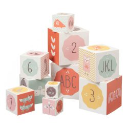 Fresk Zabawka dla dziecka Piramida edukacyjna Alfabet i Cyfry Orange