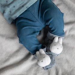 Buciki niemowlęce Tiamo Miffy ABC biel – popielaty 8*6*12 cm