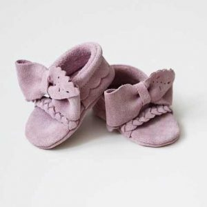 Butterfly Kids Zamszowe Butki niechodki dla niemowlaka Sandałki Audrey 10 cm