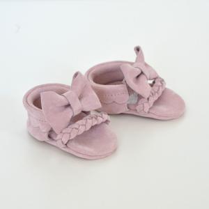 Butterfly Kids Buciki zamszowe  niechodki dla niemowlaka Sandałki Cute Bows  10 cm