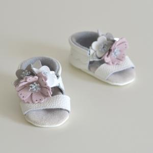Butterfly Kids Buciki niechodki niemowlęce Sandałki Flowers Lauren – Luxury Collection