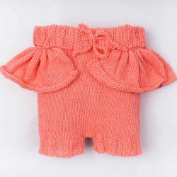 Handmade wełniane spodenki niemowlęce Peach