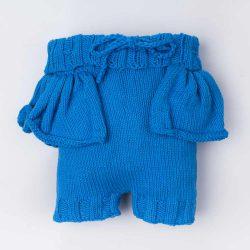 Niebieskie spodenki niemowlęce handmade