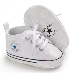 Buciki butki trampki sportowe niechodki niemowlęce białe