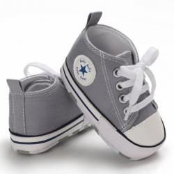 Buciki butki trampki sportowe niechodki niemowlęce szare 13 cm