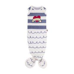 Baby Bites Śpioszki niemowlęce Baby Gown Sailor Blue 0-3 m