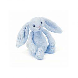 JellyCat Błękitny króliczek grzechotka dla niemowląt 18 cm