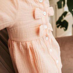 Alli letnia sukienka z muślinu dla dziewczynki z kokardkami