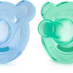 Avent Smoczek dla niemowląt uspokajający 3+ 2szt. niebieski/zielony