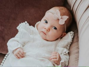 By Royal Baby Kremowa Sukienka dla dziewczynki na Chrzest Święty Classic Cream