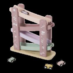 Little Dutch Drewniana zabawka dla dziecka Zjeżdżalnia Różowa