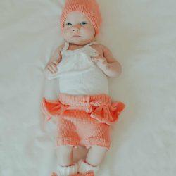 Buciki niemowlęce dla dziewczynki z kokardką