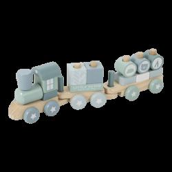 Little Dutch Zabawka drewniana dla dziecka Pociąg Błękitny