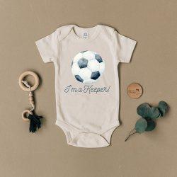 Urban Baby Co. Body dziecięce dla piłkarza z bawełny organicznej I'm Keeper 3-6 m