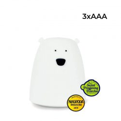 Rabbit&Friends Lampka dla niemowląt miś mały- Biały