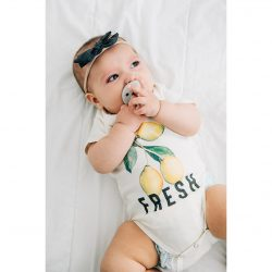 Urban Baby Co. Body niemowlęce z bawełny organicznej Lemon Fresh