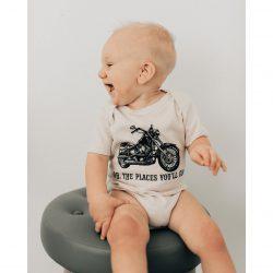 Urban Baby Co. Body dziecięce z bawełny organicznej Oh the places You`ll go 6-12 m