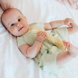 Zielona sukienka bloomersy dla dziewczynki