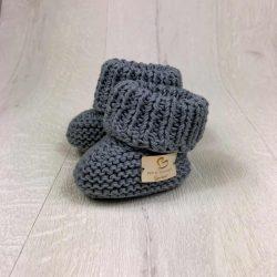 Handmade wełniane eko buciki papcie niemowlęce
