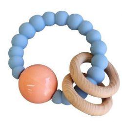 Jellystone Design Gryzak Grzechotka dla dziecka Niebieska Chmurka