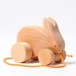 Grimm's Zabawka drewniana dla niemowląt Króliczek