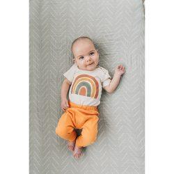 Urban Baby Co. Spodnie dziecięce z bawełny organicznej morela