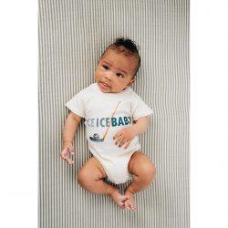 Urban Baby Co. Body niemowlęce z bawełny organicznej Ice Baby 3-6 m