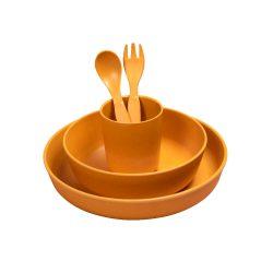 Filibabba Bambusowy zestaw obiadowy dla dziecka Golden Mustard