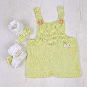 By Royal Baby Handmade Wełniany Eko Rampers dla niemowląt Pistachio