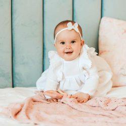 carmella sukienka z muślinu dla dziewczynki na chrzest święty