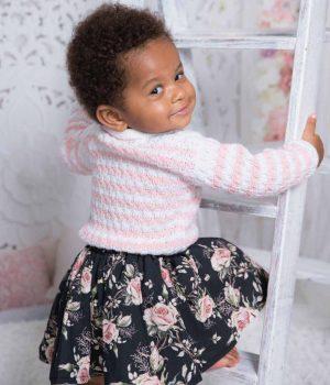 By Royal Baby Black Rose Elegancka spódniczka dla dziewczynki