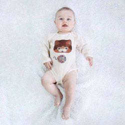 Olly & Arya Body niemowlęce z długim rękawem Kotek