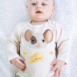 Olly & Arya Body niemowlęce z długim rękawem Myszka
