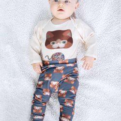 Olly & Arya Spodnie dziecięce z Kotkiem