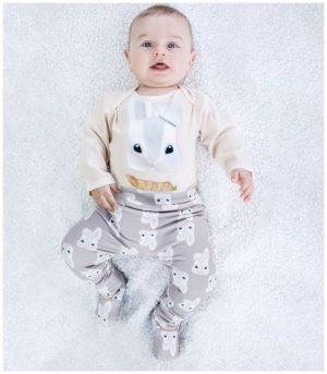 Olly & Arya Komplet dziecięcy body + spodnie Zajączek
