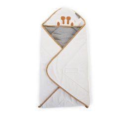 Childhome Otulacz Rożek dla niemowląt 75 x 75 cm Jersey Crochet Ecru